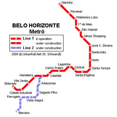 Metrô Belo Horizonte Mapa